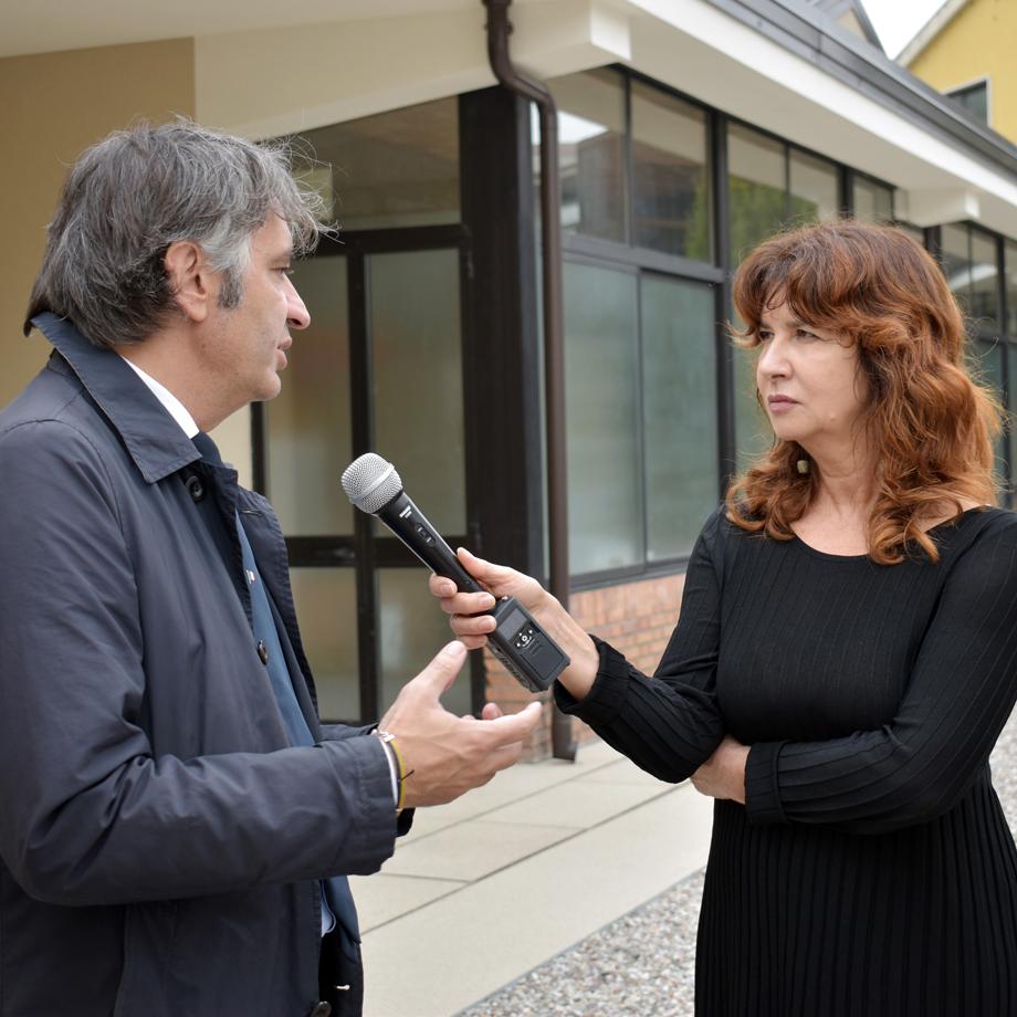 Patrizia Adami col sindaco Federico Sboarina
